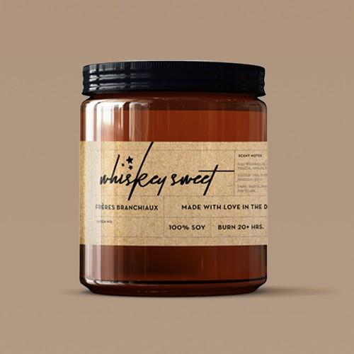 4oz Whiskey Sweet Candle - Freres Branchiaux