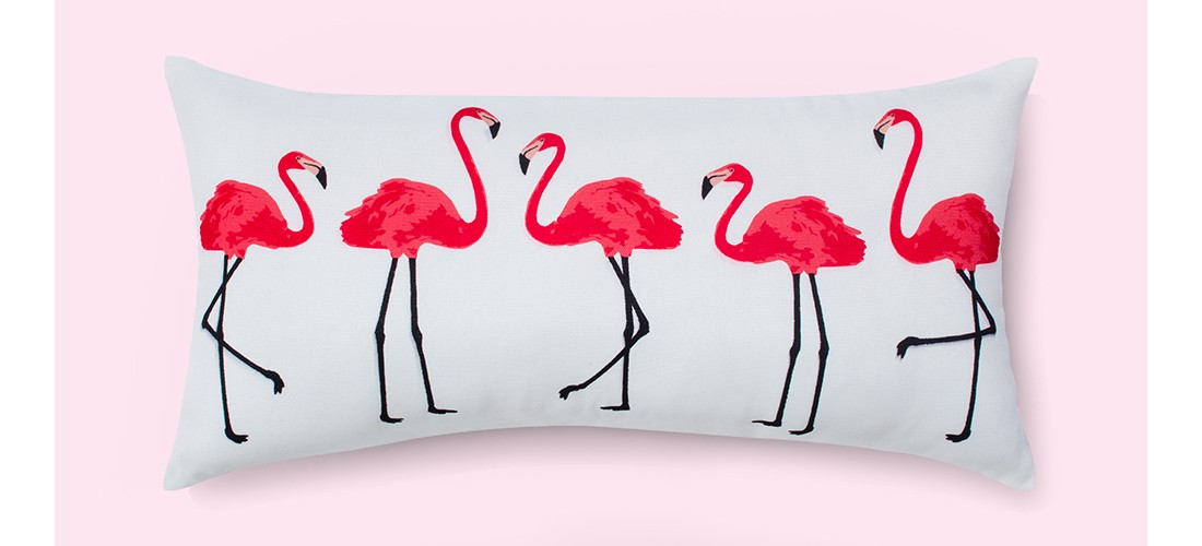 Outdoor Throw Pillow - Pink/Black - Room Essentials™