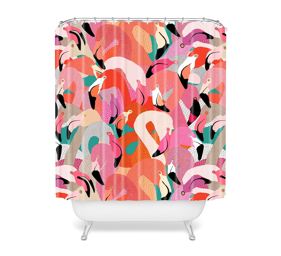 Flamingo Shower Curtain Pink - Deny Designs®