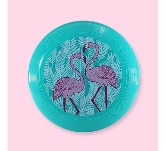 Teal Flamingo Print Flying Disc - Spritz™