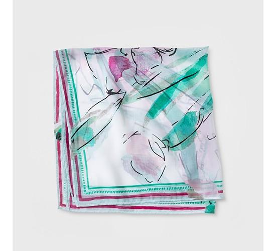 Women's Floral Neckerchief - A New Day™ White