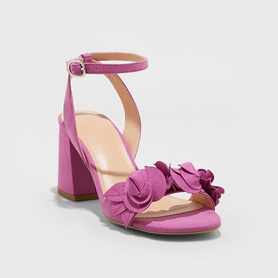 Women's Nichelle Floral Heel Pumps - A New Day™ Orchid
