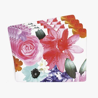 Large Hardboard Coral Placemat (4 Pack) - Ladelle