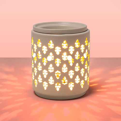 """6.5"""" x 4.5"""" Paisley Pattern Electric Scent Warmer White - Threshold™"""