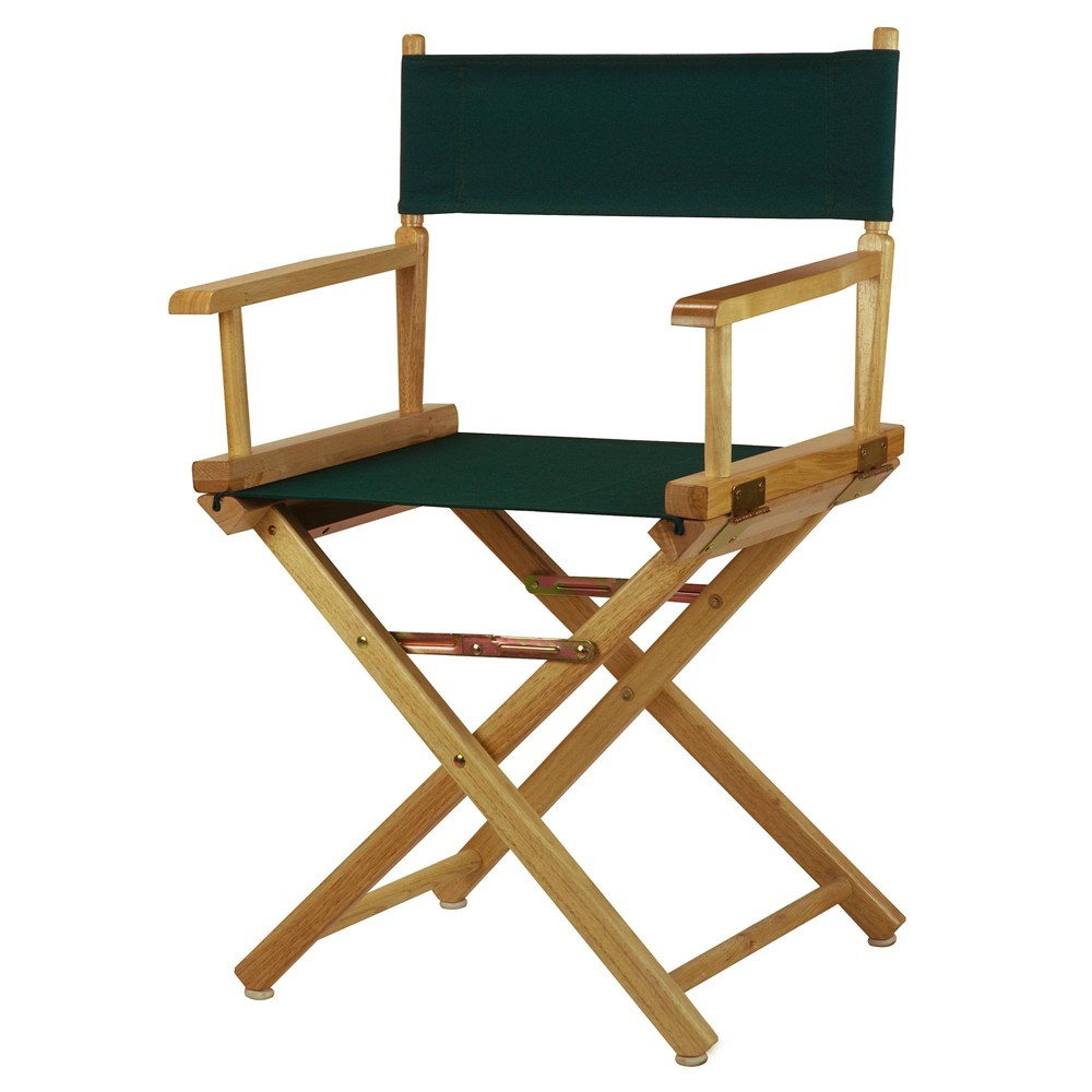 Director S Chair Canvas Hunter Green Natural Flora Home