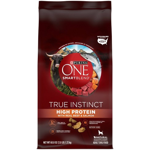 Purina ONE SmartBlend True Instinct High Protein with Real Beef & Salmon Adult Dry Dog Food - image 1 of 4