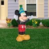 Gemmy Airblown Inflatable Birthday Party Mickey Mouse, 4 ft Tall, black - image 2 of 2