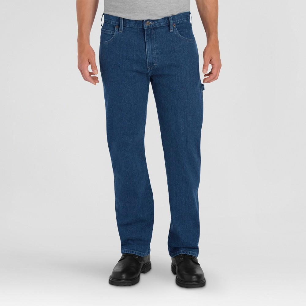 Dickies Men's Relaxed Fit Straight Leg Flex Carpenter Jeans Tinted Indigo 30X30, Medium Tint Denim