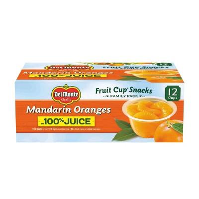 Del Monte Mandarin Oranges Fruit Cups in 100% Juice - 12ct/4oz