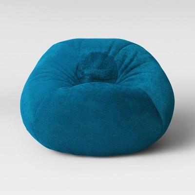 Fuzzy Bean Bag Chair Turquoise - Pillowfort™