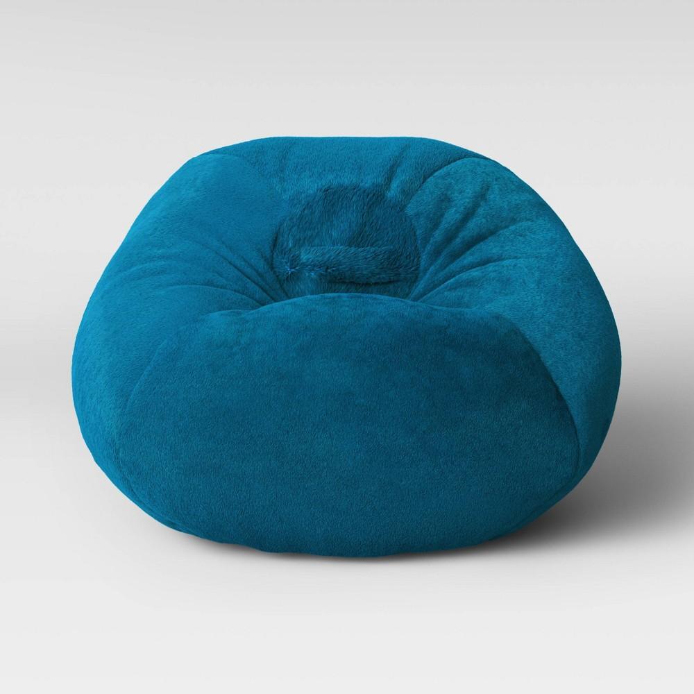 Strange Fuzzy Bean Bag Chair Turquoise Pillowfort Beatyapartments Chair Design Images Beatyapartmentscom