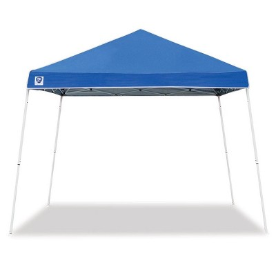 Z-Shade 10' x 10' Angled Leg Instant Shade Canopy Tent Portable Shelter, Blue