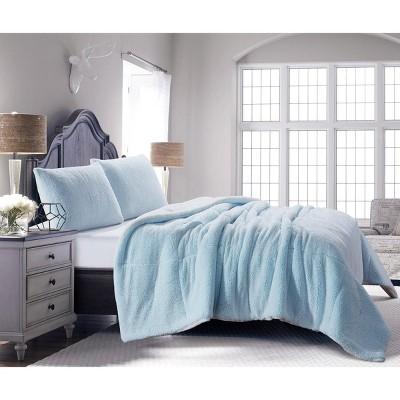 De Moocci Backy-Dye Sherpa New Farmhouse Comforter 3 Pc Set