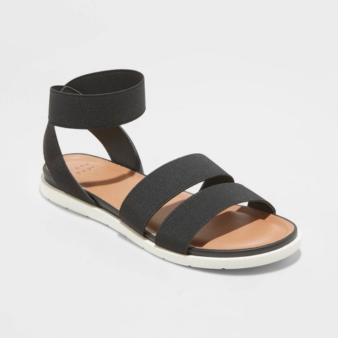 Women's Esme Elastic Ankle Strap Sandals - A New Day™ - image 1 of 4