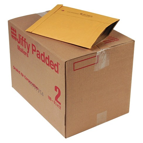 Sealed Air #2, 8 1/2 x 12, Jiffy Padded Mailer, Side Seam- Golden Brown (100 per Carton) - image 1 of 1