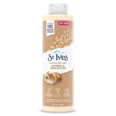 St. Ives Oatmeal & Shea Butter Plant-Based Natural Body Wash Soap - 22 fl oz