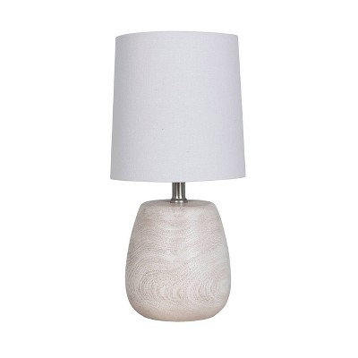 Polyresin Wood Accent Lamp White - Threshold™