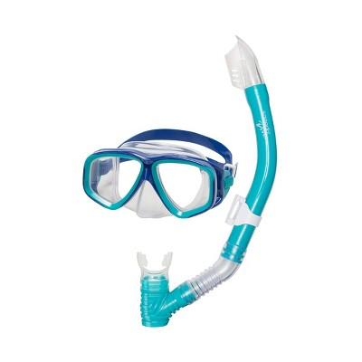 Speedo Junior Mask & Snorkel Set - Ceramic/Clear