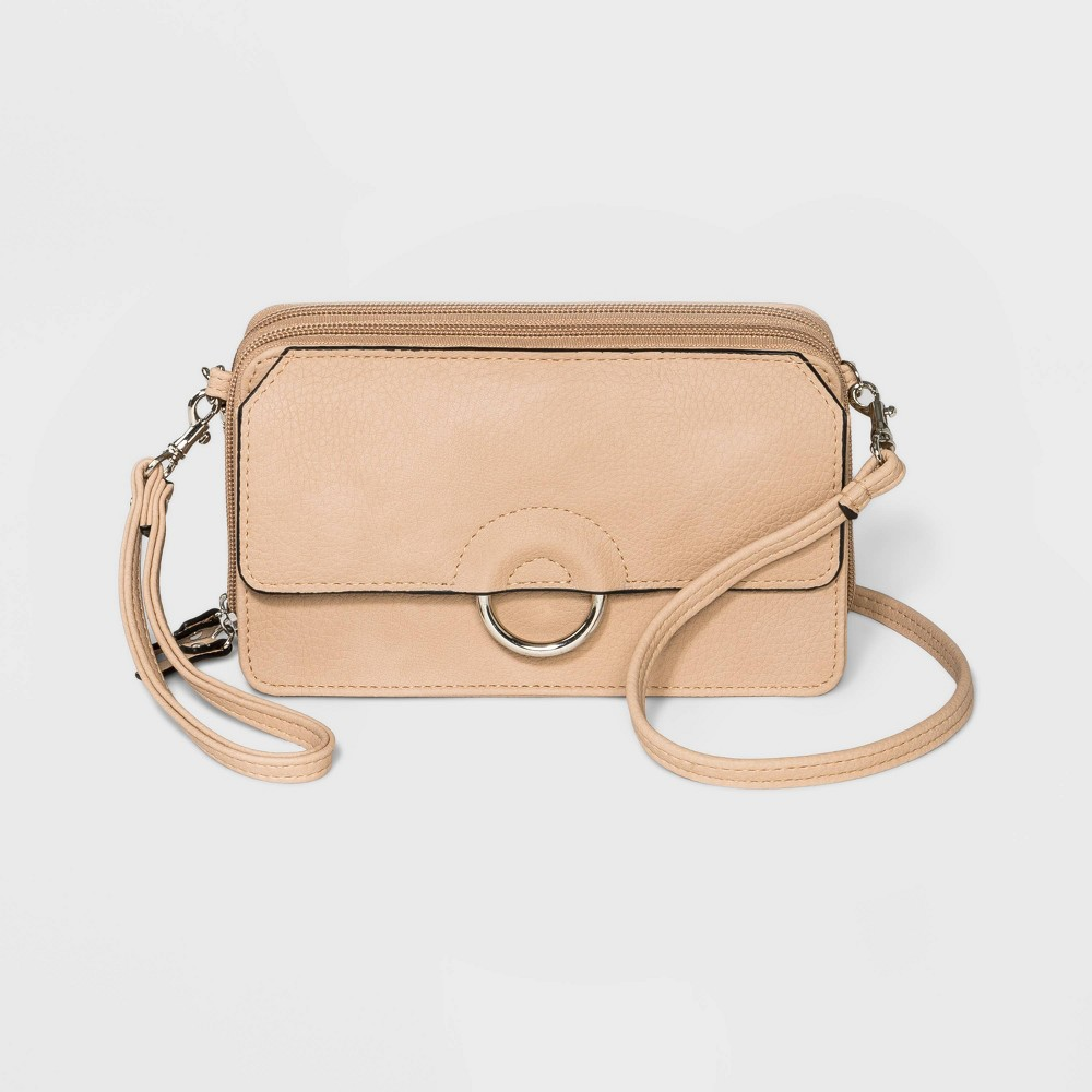 Bueno Zip Closure Soft Wall on a String Crossbody Bag - Off White