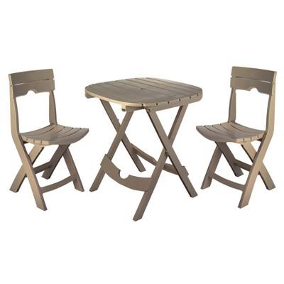 3pc Patio Quik Fold Café Set Portobello - Adams