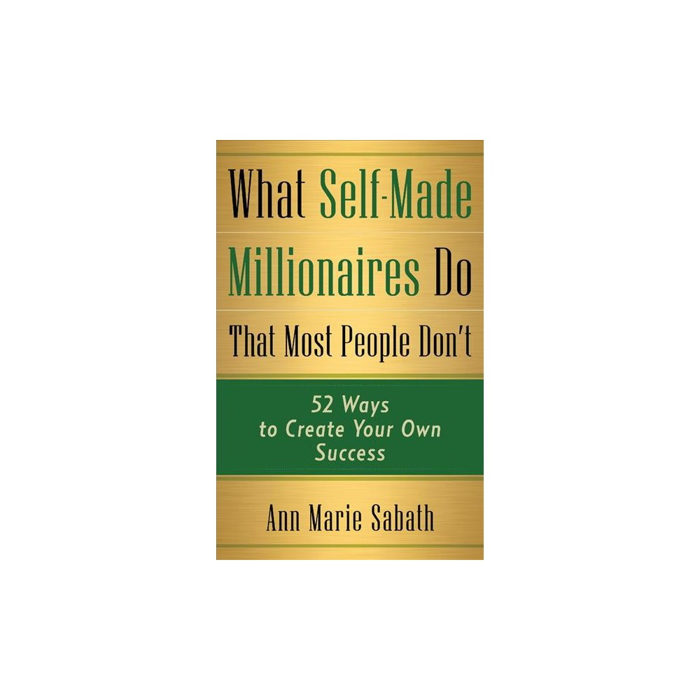 What Self-Made Millionaires Do That Most People Don't : 52 Ways to Create Your Own Success - (Paperback)