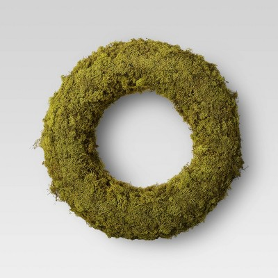 """21"""" Artificial Moss Preserved Wreath - Threshold™"""