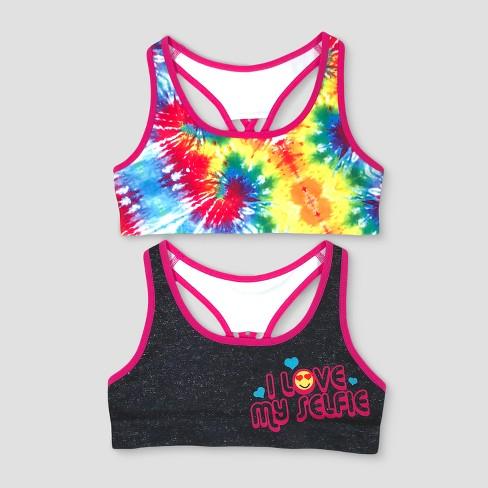 Girls Tie Dye 2pk Sports Bra