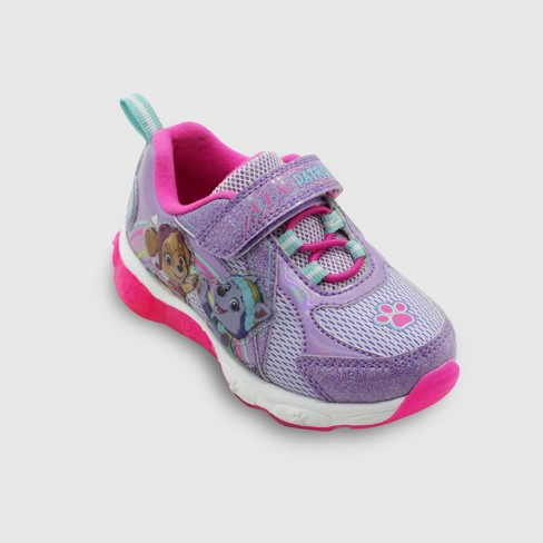 Toddler Girls' PAW Patrol Light-Up Sneakers - Purple - image 1 of 3