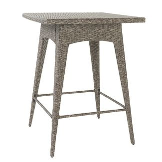 Puerta Square Wicker Bar Table Mixed Black - Christopher Knight Home