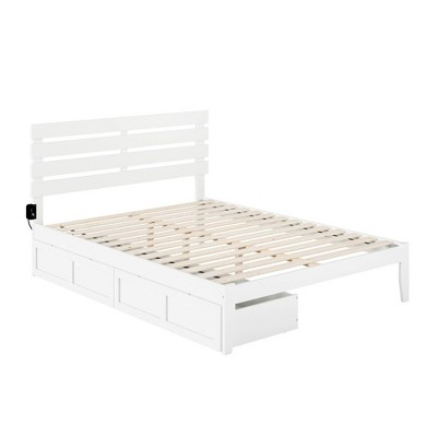 Oxford Bed with USB Turbo Charger and 2 Extra Long Drawers - Atlantic Furniture