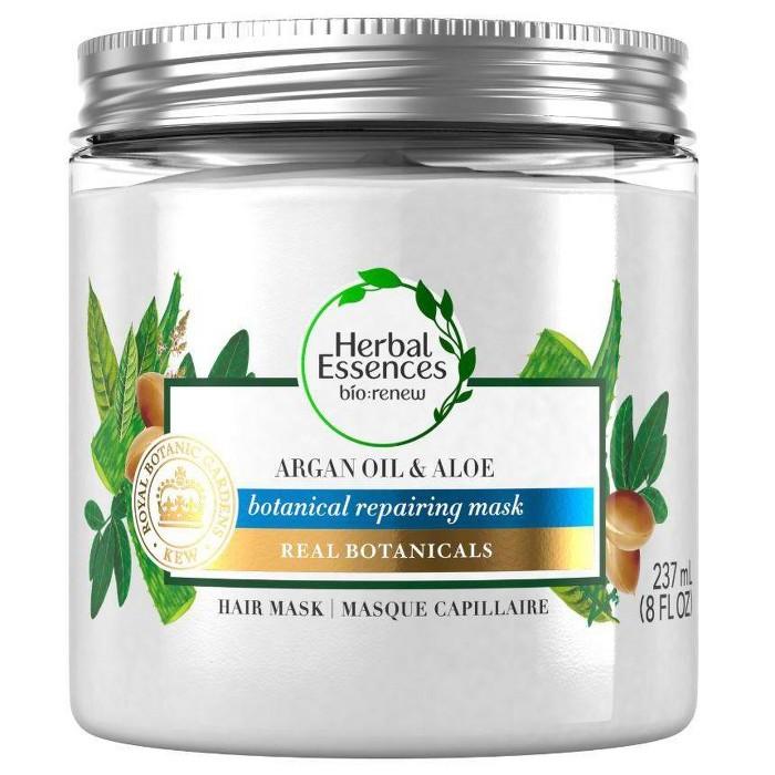 Herbal Essences Bio:renew Argan Oil & Aloe Repairing Hair Mask For Dry Damaged Hair - 8 Fl Oz : Target