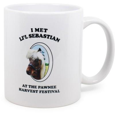 "Surreal Entertainment Parks and Recreation ""I Met Li'l Sebastian"" Ceramic Mug | Holds 11 Ounces"