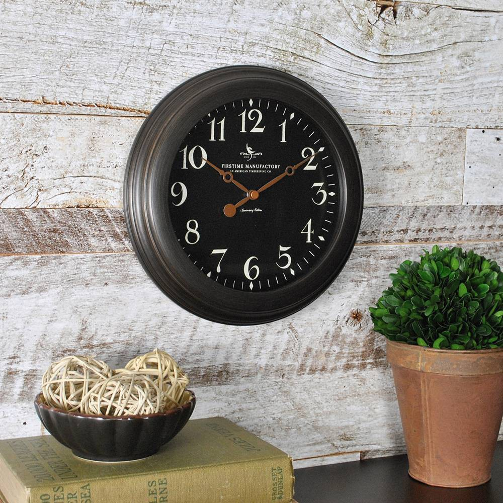 Firstime 38 Co Onyx Wall Clock