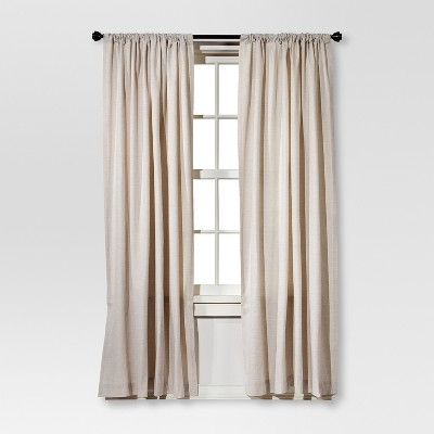 Farrah Curtain Panel Cream (54 x84 )- Threshold™