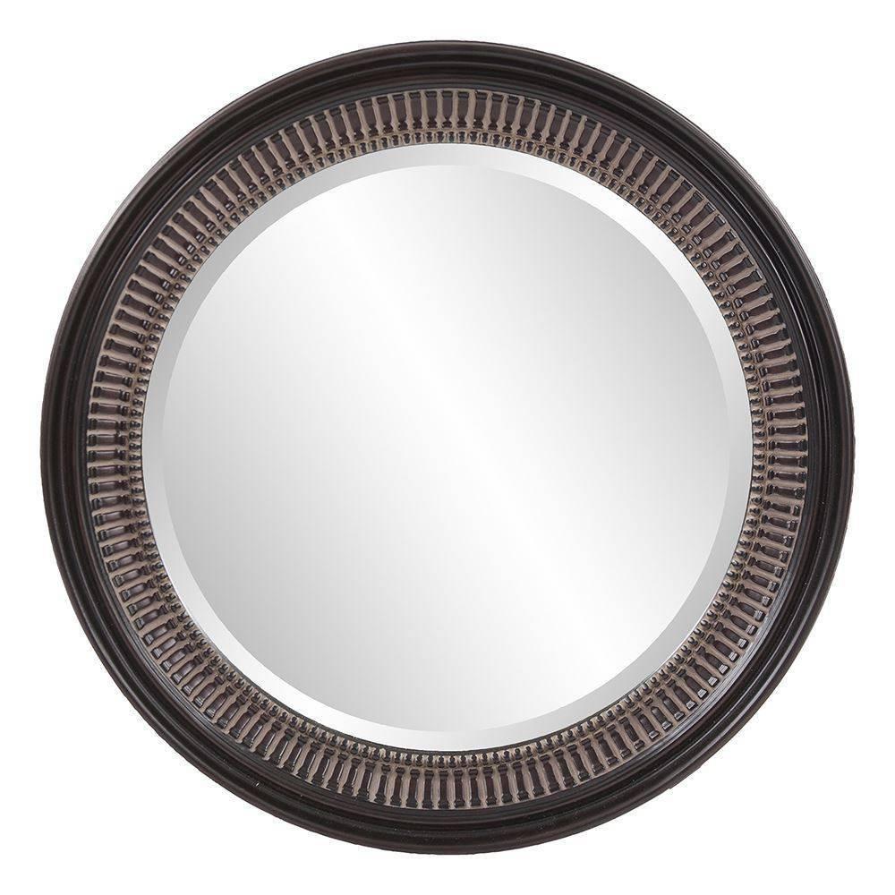 Round Monmouth Decorative Wall Mirror Brown - Howard Elliott