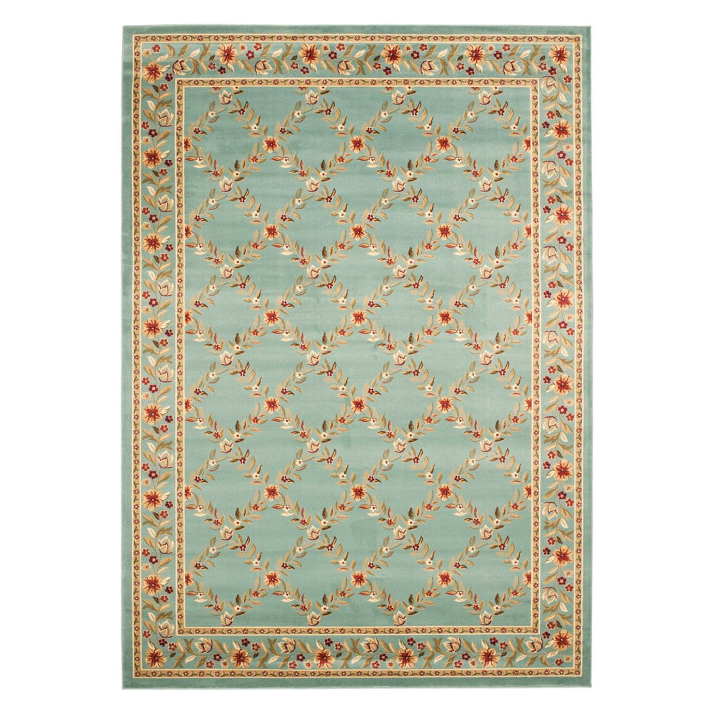 8'X11' Floral Loomed Area Rug Blue - Safavieh