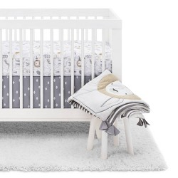 Crib Bedding Set Animals 4pc - Cloud Island™ White/Beige