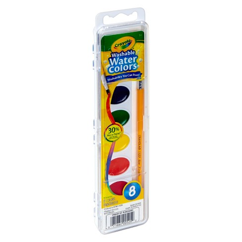 crayola watercolor paints with brush washable 8ct target