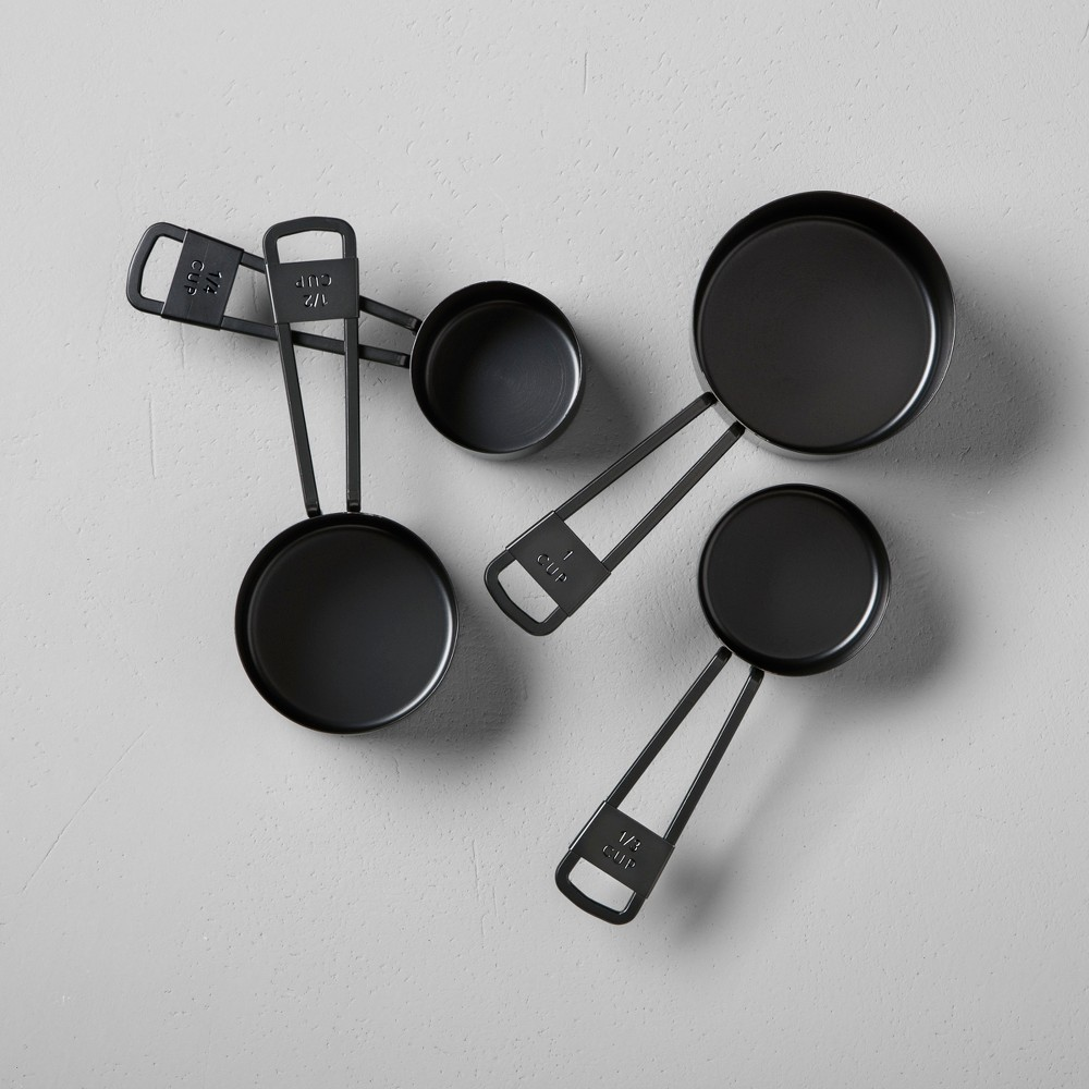 Image of 4pc Measuring Cup Set Black - Hearth & Hand with Magnolia