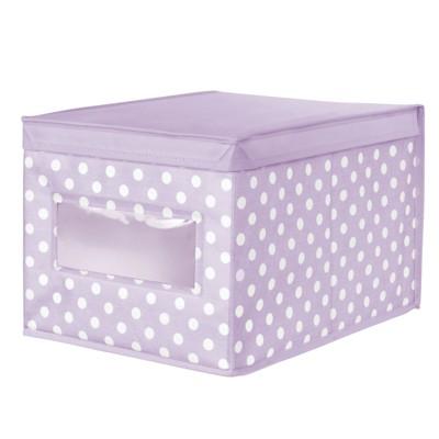 mDesign Child/Kids Fabric Closet Storage Box, Large, Polka Dot