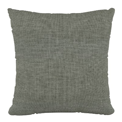 "18""x18"" Zuma Polyester Pillow Charcoal - Skyline Furniture"