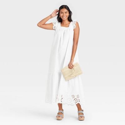 Women's Flutter Sleeveless Dress - A New Day™