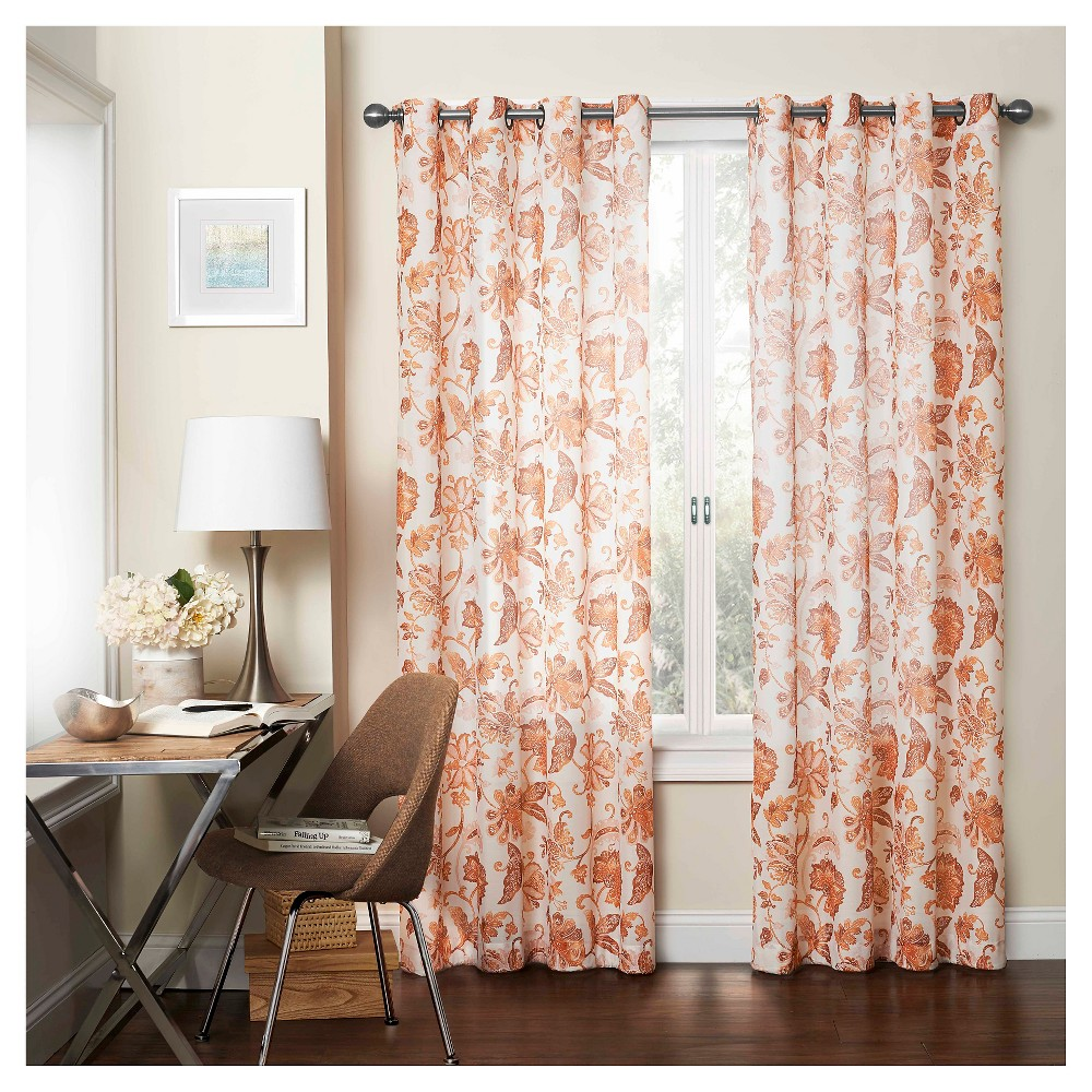 Wythe Light Filtering Sheer Curtain Red (52