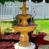 """40"""" Tropical 3-Tier Outdoor Garden Water Fountain - Sunnydaze Decor - image 4 of 4"""