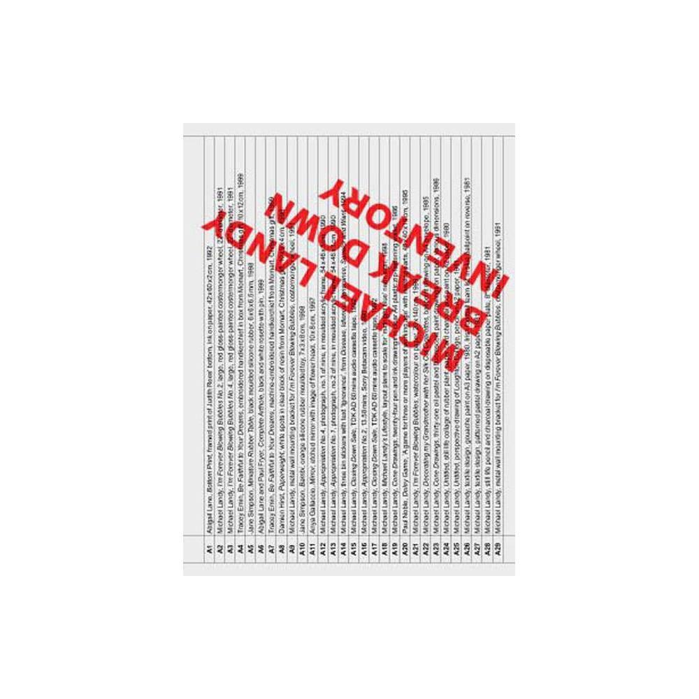 Michael Landy: Break Down Inventory - (Paperback)