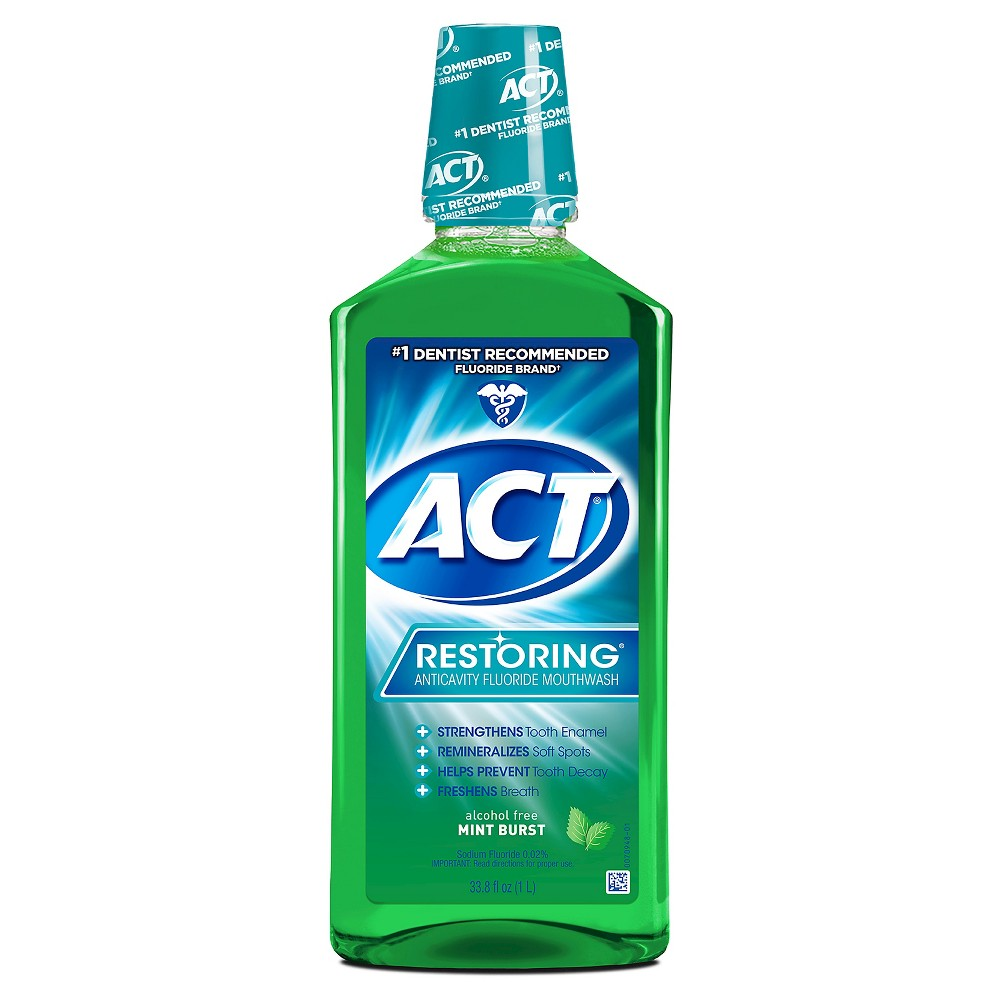 Image of Act Restoring Mouthwash Mint Burst - 33.8 fl oz