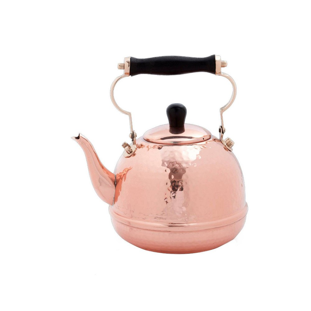 Image of Old Dutch 64oz Copper Hammered Tea Kettle with Wood Handle