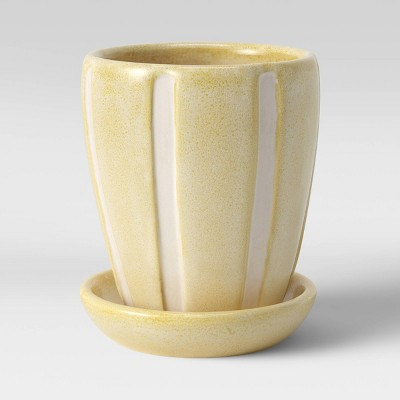 Earthenware Ceramic Grooves Planter - Threshold™