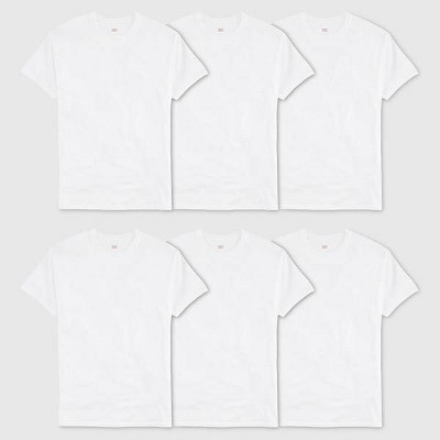 Hanes® Men's 6Pk Crew Neck T-Shirt With Fresh IQ - White