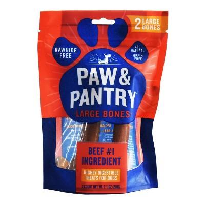 Paw & Pantry Large Beef Bones Dog Treats - 2pk